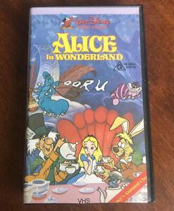 Walt Disney Classic Alice In Wonderland PAL VHS Video