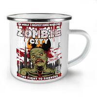 Survival Fight Zombie NEW Enamel Tea Mug 10 oz | Wellcoda