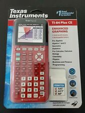 Texas Instruments TI-84 Plus CE Graphing Calculator Red Color Brand New  Sealed!