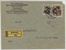 ÖSTERREICH 1937 REKO-BRIEF, MÖDLING nach BADEN bei WIEN