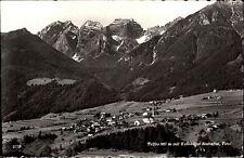 Telfes im Stubai Tirol s/w AK ~1950/60 Panorama mit Kalkkögel Berge Wald Dorf