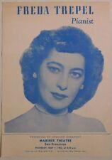 Freda Trepel vintage classical handbill Sf Marines Theatre May 1 1952 piano