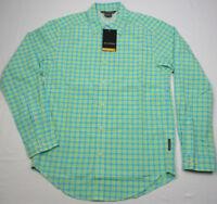 ExOfficio Salida Plaid Shirt Long-Sleeve Arcadian Blue Green Men's Small NWT $85