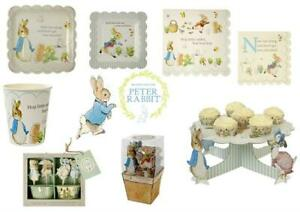 PETER RABBIT Party Items, Plates, Cups, Napkins, CHRISTENING 1st BIRTHDAY