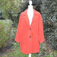 Manteau veste oversize  Femme Grande Taille 50 52 orange ZAZA2CATS new