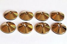 Spike Shoes Pads for B&W KEF Surround or HiFi Speakers Stand (x8) Polished Brass