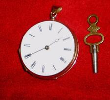 Taschenuhr Schlüsselaufzug Damen/Frackuhr,14 Karat, 28 g,ansehen lohnt !!