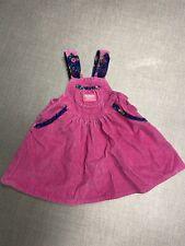 Vintage OshKosh Overall Dress Pink Girl's 3T Floral Corduroy USA