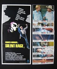 SILENT RAGE 1982 Australian daybill movie poster & lobby card set Chuck Norris
