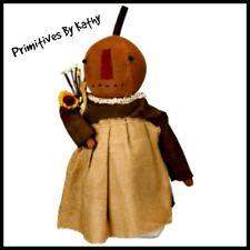 Primitive Standing Pumpkin Girl Doll with Sunflower ` PBK`Retail Price $35.00