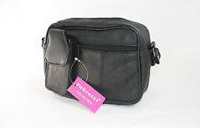 Genuine Leather Shoulder Bag BLACK Fabretti 61598