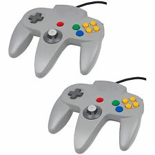 Twin Pack Grey Controller For Nintendo 64 N64  Retro Gamepad Joystick  JoyPad