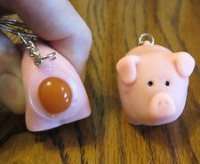 1 NEW NAUGHTY POOPING PIG KEYCHAIN SQUEEZE ANIMALS POOP TURD KEY RING CHAIN