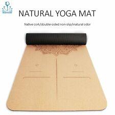 Esterilla corcho para Yoga, Fitness, Pilates.5 mm Absorción de sudor, resistente