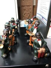 PRESERVATION HALL JAZZ MUSICIAN FIGURINES NEW ORLEANS CAJUN CERAMIC 6 INCH 8 PK