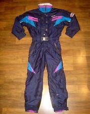 NEVICA FS24 Racing MENS 40 Neon VTG One Piece SKI Suit Snow BIB Coat Snowsuit