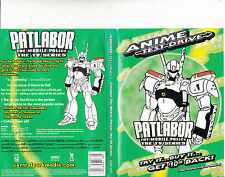 Patlabor:The Mobile police-1989/90-TV Series Japan-2 Episodes/45 min Trailer-DVD