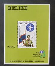 Belize 1982 125th Bird Lord Baden-Powell Scouts MS693a MNH UM unmounted mint