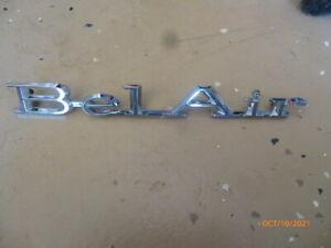 7657786 NOS GM 1967 Chevrolet Bel Air Quarter Panel Emblem