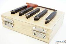 Set of 5 Indexable Lathe Turning Tools 1/4 Square Shank For Unimat etc