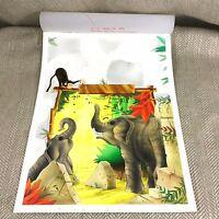 The Jungle Book Original Artwork Illustration Monkey Elephant Art Painting RARE