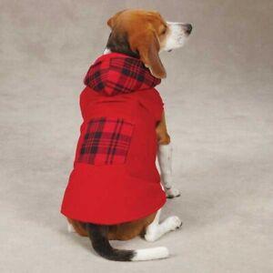 Dog Coat Reversible Woodland Corduroy & soft plaid hoodie dog coat Pet Coat NEW