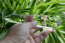 Tibet Himalayan 99% Clear 13 Side Crystal Point Quartz Vogel Wand 5.9 in Reiki
