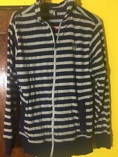 Enyce Men's Size Sz M Vintage Hoodie Sweatshirt Rare Striped Blue Vintage Retro