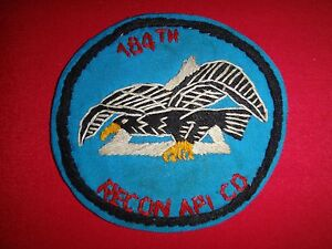 Vietnam War Hand Made Patch US 184th RECON AIRPLANE COMPANY