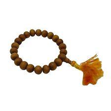 Indian Rose Wood Brown Ethnic Rosary Wood Japa Mala Prayer Beads 6-8 mm 21 Beads