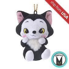Japan Disney Store Pinocchio Figaro Cat Plush Doll Mascot Keychain Charm Kawaii