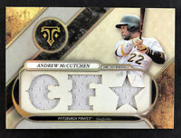 2017 Topps Triple Threads Relics Andrew McCutchen 'CF ' - #13/27 - Pirates