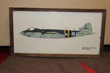 Pintura en vidrio de Hawker Sea Hawk F.G.A.6 no 804 escuadrón firmado por S. Foster
