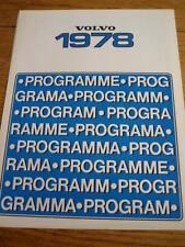 VOLVO 66, 240 and 260 SERIES SALES BROCHURE1978 jm