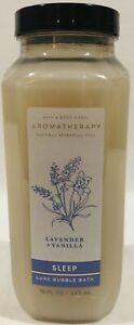Bath Body Works Aromatherapy Sleep Lavender Vanilla Luxe Bubble Bath 15oz