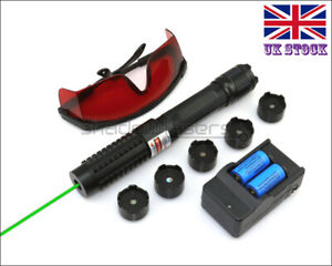 GX6-C 1MW 520nm Green Laser Pointer Visible Lazer Pen&Battery&Charger&Goggles UK