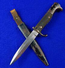 German Germany WW1 Boot Fighting Knife Bayonet w/ Scabbard