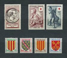 FRANCE - 1955 YT 1043 à 1049 - TIMBRES NEUFS** MNH LUXE
