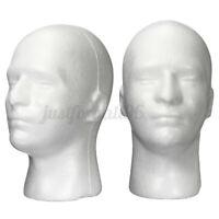 11'' Male Styrofoam Foam Mannequin Manikin Head Model Wigs Glasses Cap Display
