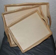 Dekoration Basteln Tablett 3erSet -- 2 Griffe - 3 verschiedene Größen Holz