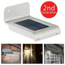 Weatherproof 16 LED Solar Power Motion Sensor Light Outdoor Security Wall Lamp