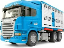 BRUDER Scania R-Series 1:16 Scale Livestock Transporter with One Cow (03549)
