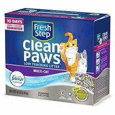 Fresh Step Clean Paws Multi-Cat Scented Litter with the Power of Febreze Clum.