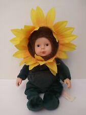Anne Geddes 2001 Sunflower Doll Green Yellow Especially Kids Co.
