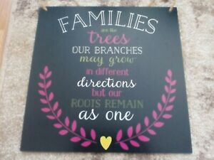 Home Plaque Family Hanging Wooden Sign Plaque Size30x30cm