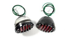 Pair LED Tail Lights for 1933-36 Ford Car W/  Black Metal Grille