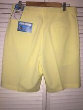 PGA Tour•mens Yellow 32 W Shorts•Moisture Wicking UPF 50+>NEW W/tags $55.00