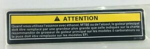ARCTIC CAT 2611-754 SNOWMOBILE FUEL CAUTION DECAL IN FRENCH FITS 1997-2002
