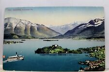 Switzerland Zurichsee Halbinsel Au Postcard Old Vintage Card View Standard Post