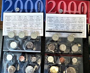 2000 United States Mint Uncirculated Coin Set  OGP